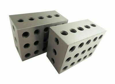 Set Of 2 PC 2 3 4 Metal Blocks 23 Holes Milling Drilling Machining Precision