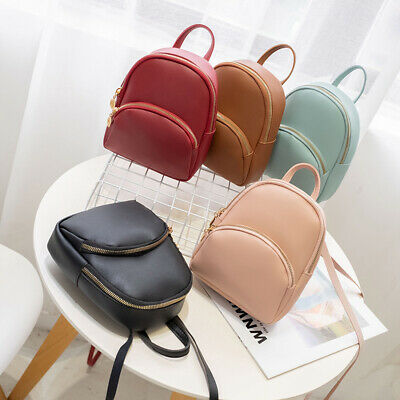 AU Women Backpack Travel Leather Handbag Small Rucksack Shoulder Bags Fashion