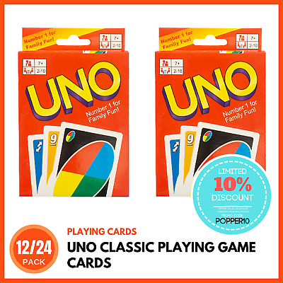 UNO PLAYING CARDS | Kids Card Games Family Card Games Classic Card Games BULK