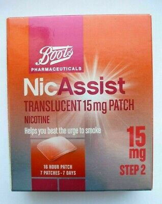 NICASSIST 15mg Patch - Step 2 X 7 Patches (same manufacturer as Nicorette )