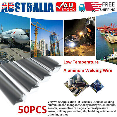 50Pcs Aluminum Low Temperature Flux Cored Easy Melting Welding Wire Rod Tools