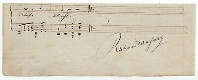 Wagner, Richard (composer) - Scarce autograph musical quotation signed