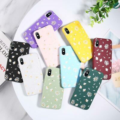 Cute Rubber Soft Flower Pattern Phone Case Cover For iPhone X XR 5 6 6s 7 8 Plus