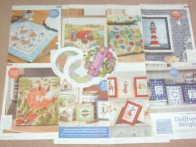 1 x Cross Stitch Menu Choice Mixed Assorted Designs Deco, Floral, Animal, Baby