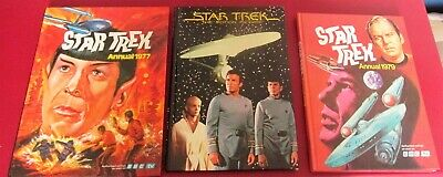 3 STAR TREK ANNUALS, 1977 & 1979+THE MOTION PICTURE 1979,None Price Clipped,VGC
