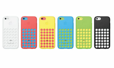 Étui pour IPHONE 5c Authentique Officiel apple Pois à Pois Silicone Housse Peau