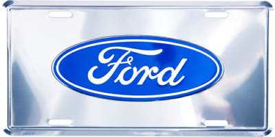 "Ford Silver Trucks Cars Tag 6""x12"" Aluminum License Plate"
