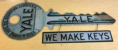 Yale Key Yale & Towne Mfg. Co. Electro-Chemical Engr. Co. NY Advertising Sign