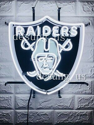 "New Oakland Raiders Beer Bar Neon Light Sign 20""x16"" HD Vivid Printing"