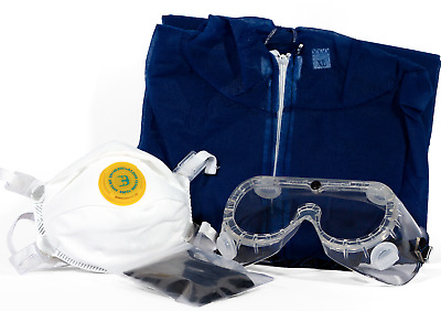 Safety Kit - Coverall Suit, Mask, Goggles & Gloves