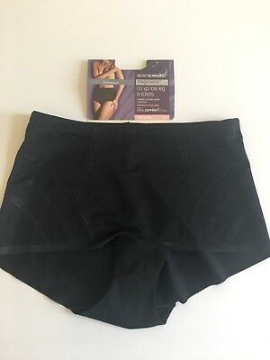 Marks & Spencer's Secret Slimming Black Firm Control Low Leg Knickers Size 10