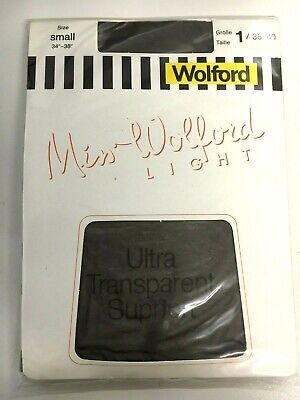 Vintage MISS WOLFORD LIGHT Sheer Tights x1 Pack - Fine Wrinkle Free NEW & SEALED