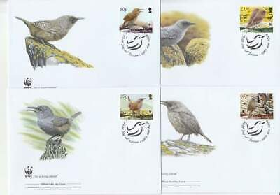 WWF 4 x FDC Falkland Islands 2009 - Vogels / Birds (275)
