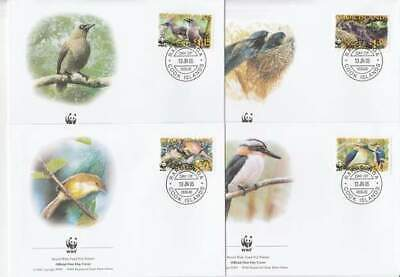 WWF 4 x FDC Cook Islands 2005 - Vogels / Birds (295)
