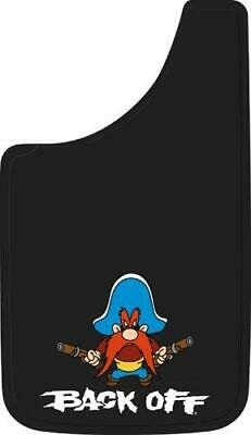"Plasticolor 000502R01 Yosemite Sam Back Off Easy Fit Mud Guard 11"" - Set of 2"