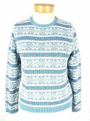 Fair Isle Nordic Argyle Pattern Pullover Crewneck Jumper 107 mv Sweater S M L