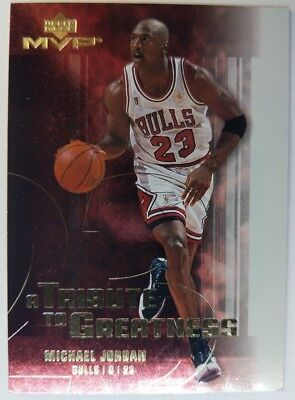 2003 03 Upper Deck MVP Michael Jordan A Tribute To Greatness #MJ7 Insert Bulls