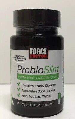 (New) Force Factor ProbioSlim, Digestive Support + Weight Loss,  30 Capsules