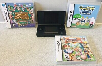 Nintendo DS Lite Portable Handheld Gaming Console - Onyx Black + Games