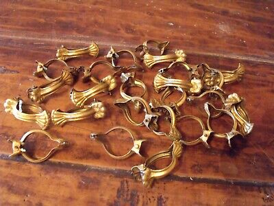 Vintage French Cafe Rod Curtain Clips x 25