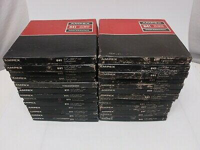 "Lot 26 Ampex 611 641 Professional Reel To Reel Audio Tapes 7"" Used W/ Music"