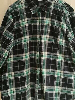 Ladies Riders By Lee Check Shirt Sz 16/18 (60cm Flat Chest) Lined Cuff Fleecey