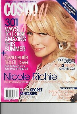 Cosmo Girl Magazine-Nicole Richie On The Cover-June 2006-Free Ship In Canada
