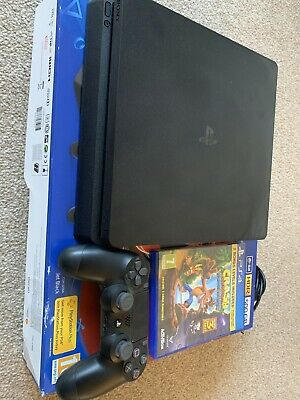 Sony PlayStation 4 Slim 500GB Console, Great Condition, Boxed With 1 Game.