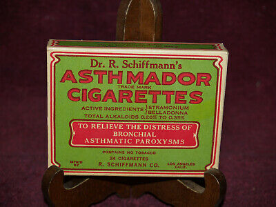 Antique medical Quack medicine CIGARETTES for ASTHMA full pack