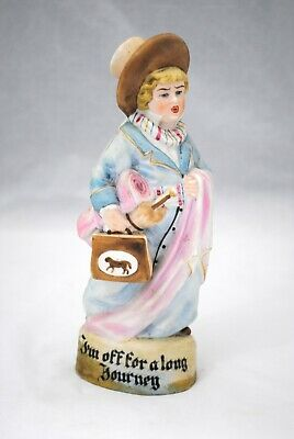 Antique German Bisque Figurine I'm Off For a Long Journey