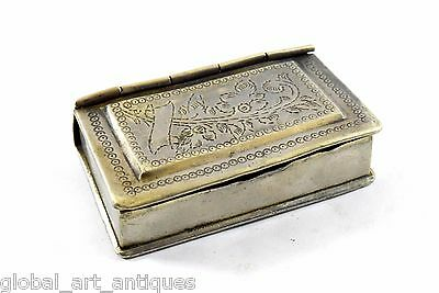 Vintage unique Hand Crafted Brass Collectible betel nut Box. G7-667 US