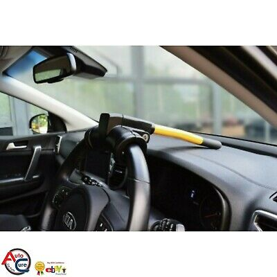 Steering Wheel Lock Dashboard High Visible Deterent Fitted In Seconds