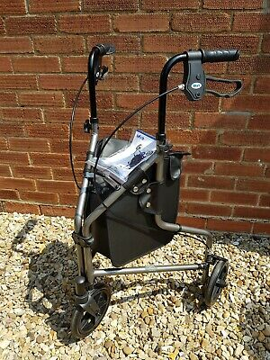 Days Mobility Grey Tri Walker With Storage Bag Light Weight 3 Wheeled