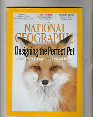 NATIONAL GEOGRAPHIC Magazine March 2011 - Designing The Perfect Pet & Free Map