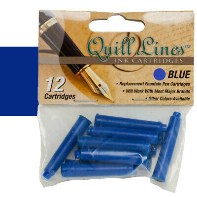 Quill Lines Replacement Cartridge 12-Pack - Blue