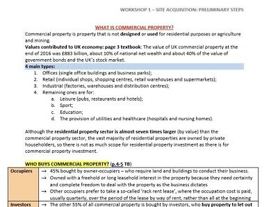 Advanced Real Estate LPC Notes - Distinction