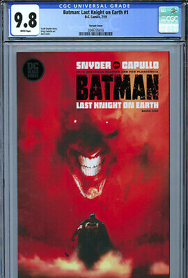 Batman: Last Knight On Earth #1 (2019) DC CGC 9.8 White Pages Jock Variant
