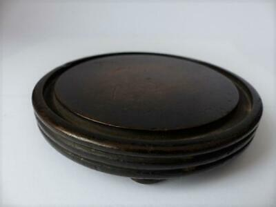 Early 19th c Glass Dome Wooden Base
