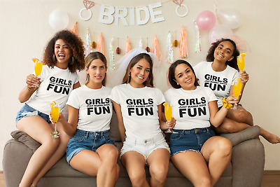 Womens  T-Shirt Girls Just Wanna Have Fun 80`s Music Party Fancy Dress  fitted