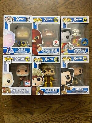 Funko Pop Marvel X-Men Lot Bundle Wolverine Logan Juggernaut Con Exclusive