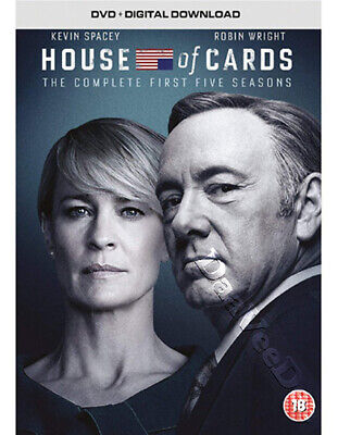 House of Cards (Complete Seasons 1-5) NEW PAL 20-DVD Box Set Kevin Spacey