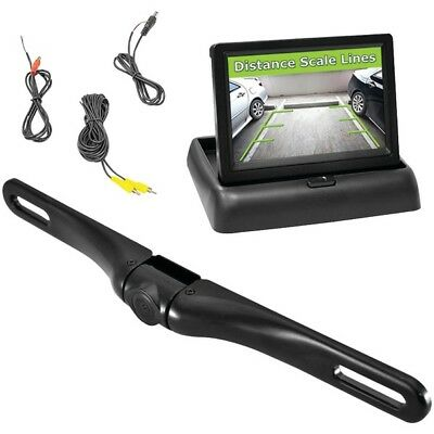 New PLCM4500 4.3'' Pop-Up Monitor &  Backup Camera w/Distance Scale Line System