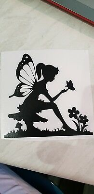 Fairy with butterfly Vinyl decal sticker Water bottle// glass etc