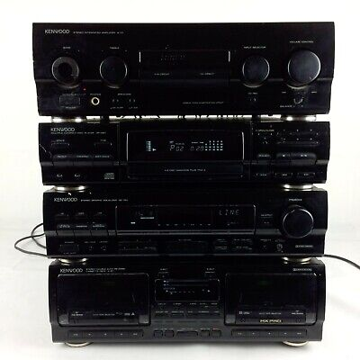 KENWOOD A-77 HI-FI Seperates Stereo System Black 1991