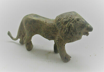Scarce Circa 100-300Ad Ancient Roman Legionary Lion Figurine