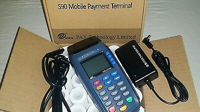BRAND NEW PAX S90 v3- 3G EMV + NFC Wireless Terminal & SIM