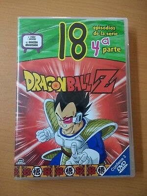 DRAGON BALL Z 3 DVD`s ALL REGION EPISODIOS 57-74 good condition ESPAÑOL LATINO