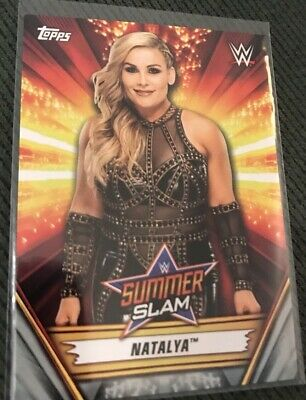 2019 Topps WWE Summerslam Natalya Silver Parallel Card /25
