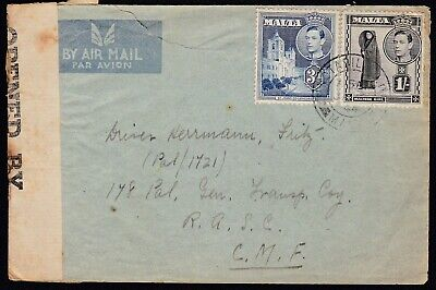 NEW ZEALAND 1944 WWII Air Mail Censored Registered Cover