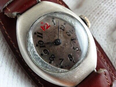 Antique Swiss Solid Silver Sample 0.800 Art Deco Mens Watch pre 1900s.